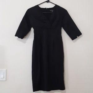bitten vneck black dress